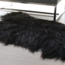 Schapenvacht Zwart Vloerkleed